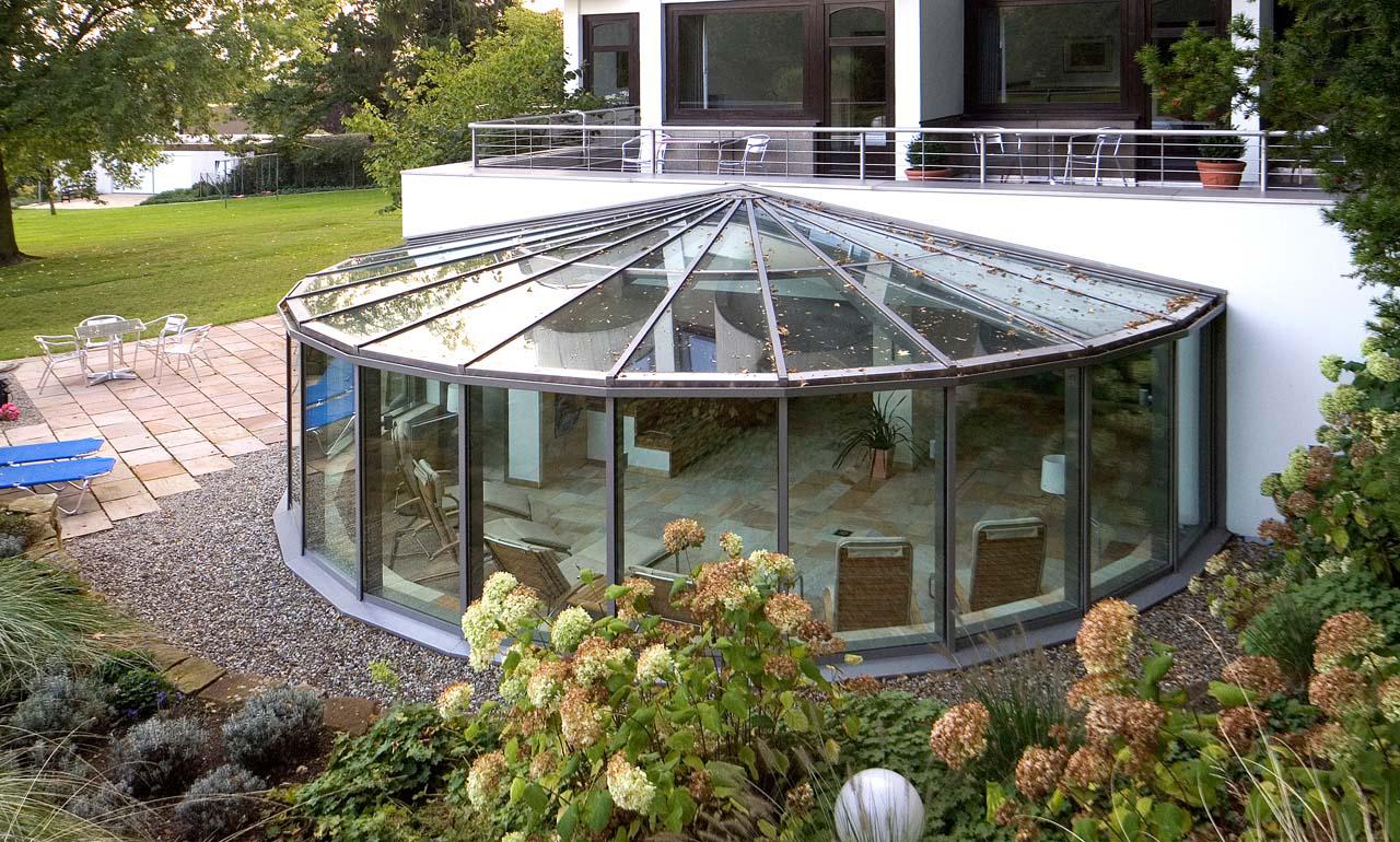стеклянная пристройка к дому