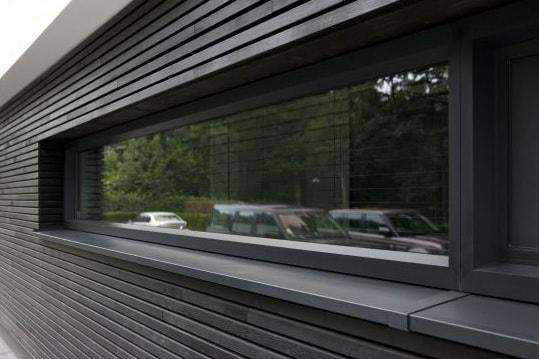 прямоугольное окно из алюминия