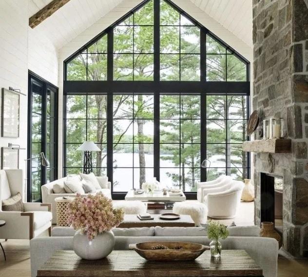 стена из стекла в доме